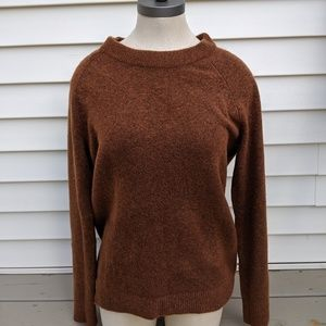 Ann Taylor Loft Orange Sweater with Back Cutout